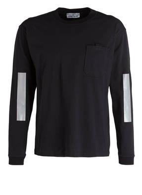 STONE ISLAND Langarmshirt mit reflektierenden Streifen