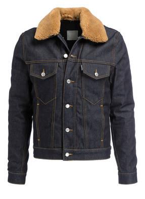 sandro Jeansjacke mit abnehmbarem Felloptik-Besatz