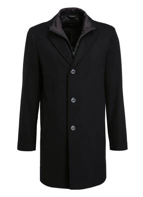 STROKESMAN'S Mantel mit abnehmbarer Blende