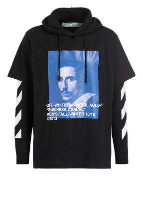 OFF-WHITE Oversized-Hoodie BLACK BERNINI
