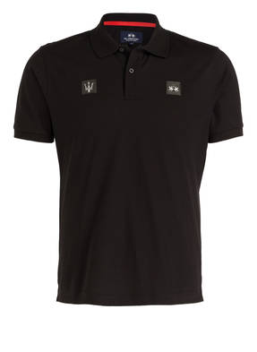 LA MARTINA Piqué-Poloshirt Regular Fit aus der MASERATI POLO TOUR Kollektion
