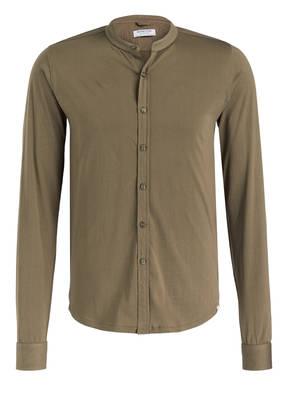 DSTREZZED Jersey-Hemd Slim-Fit mit Stehkragen