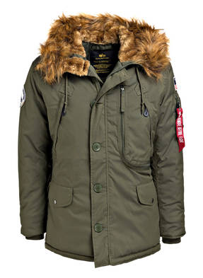 ALPHA INDUSTRIES Parka POLAR JACKET mit Felloptik-Besatz