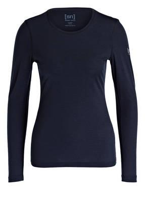 super.natural Funktionswäsche-Shirt BASE 175 mit Merinowolle-Anteil