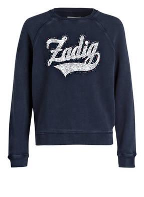 ZADIG&VOLTAIRE Sweatshirt mit Schmucksteinbesatz