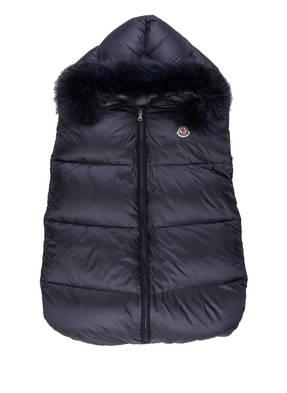 MONCLER Daunen-Schlafsack mit Echtpelzbesatz