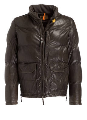PARAJUMPERS Lederjacke BEAR in Steppoptik