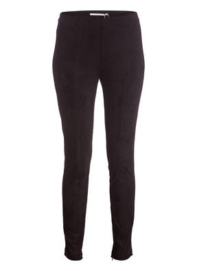 RAFFAELLO ROSSI Leggings in Veloursleder-Optik