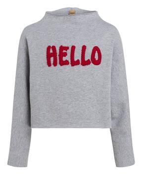 PLEASE Cropped-Sweatshirt HELLO