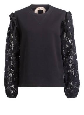 N°21 Sweatshirt  mit Spitzendetails