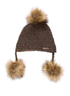 norton Mütze mit Alpaka-Anteil und Kunstpelzbommel
