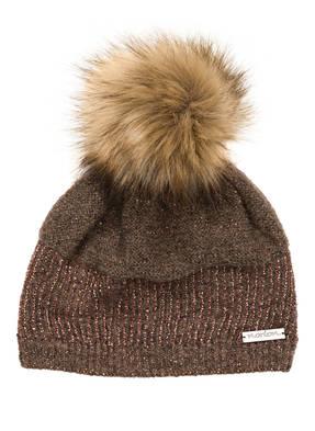 norton Mütze mit Mohair-Anteil und Kunstpelzbommel
