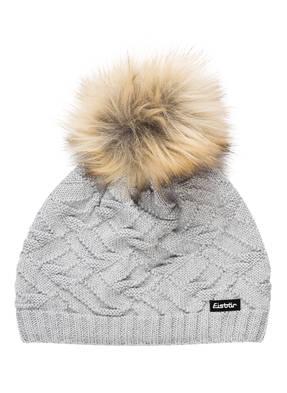 Eisbär Mütze MIRIAM mit Kunstfellbommel