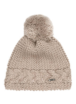 CAPO Mütze FLORA POM mit Teddyfell-Bommel
