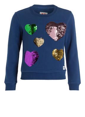 AO76 Sweatshirt mit Paillettenbesatz