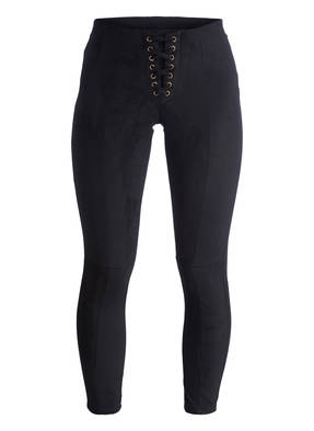 HUE Leggings in Velourslederoptik