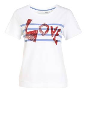 MARCCAIN T-Shirt mit Paillettenbesatz