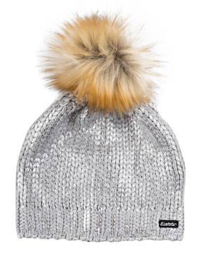 Eisbär Mütze FOLINA LUX mit Kunstfellbommel