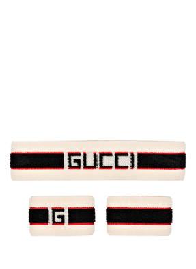 GUCCI Set: Stirnband und Armbänder