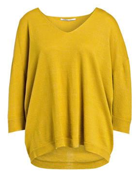 AGNONA Cashmere-Pullover mit Leinenanteil