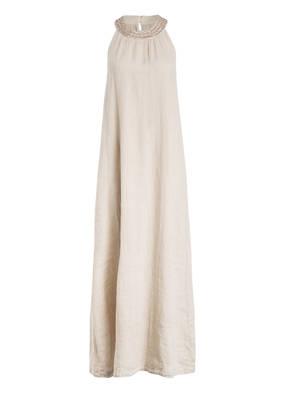 120%lino Leinenkleid mit Perlenbesatz