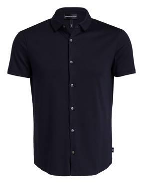 EMPORIO ARMANI Jersey-Halbarm-Hemd Slim Fit