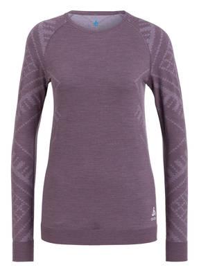 odlo Funktionswäsche-Shirt NATURAL + KINSHIP mit Merinowolle-Anteil