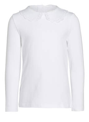 name it Longsleeve mit Spitzenkragen