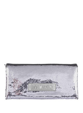 LOVE MOSCHINO Clutch mit Paillettenbesatz