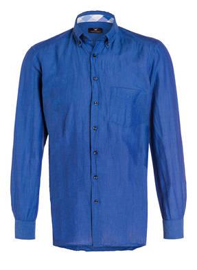 STROKESMAN'S Hemd Tailored Fit mit Leinenanteil