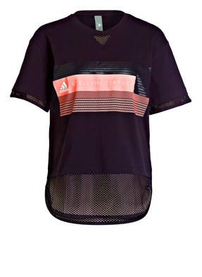 adidas by Stella McCartney T-Shirt mit Mesh-Einsätzen