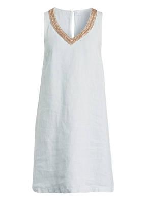 499013f6945 120%lino Leinenkleid mit Perlenbesatz