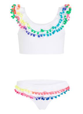 PILYQ Bustier-Bikini mit Pompons