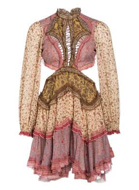 ZIMMERMANN Kleid JUNIPER mit Seidenanteil und Cut-outs