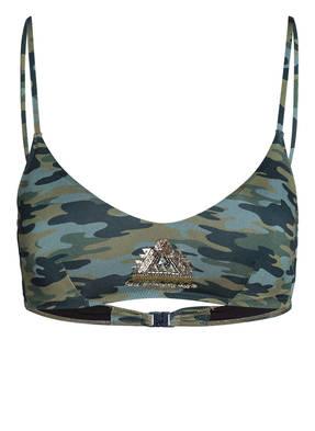 watercult Bralette-Bikini-Top CAMO LUXE mit Pailettenbesatz