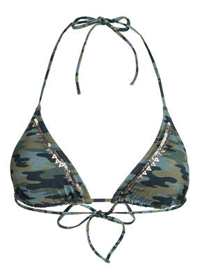 watercult Triangel-Bikini-Top CAMO LUXE mit Pailettenbesatz