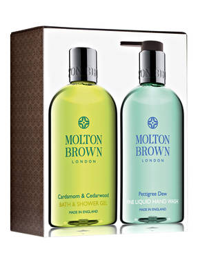 MOLTON BROWN CARDAMOM & CEDARWOOD + PETTIGREE DEW
