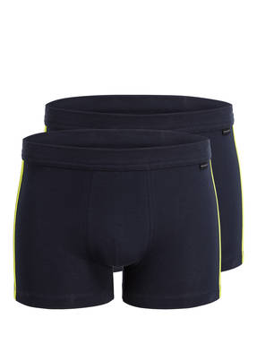 SCHIESSER 2er-Pack Boxershorts COTTON ESSENTIALS