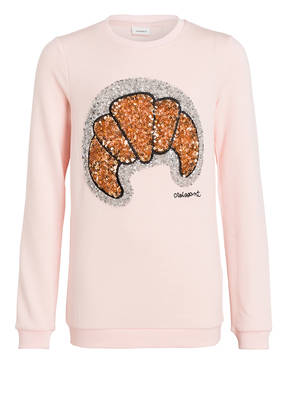 name it Sweatshirt mit Paillettenbesatz