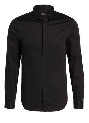 ARMANI EXCHANGE Hemd Slim Fit mit verdeckter Knopfleiste