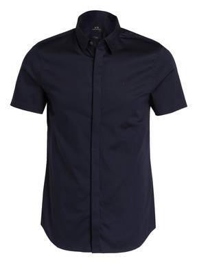 ARMANI EXCHANGE Halbarm-Hemd Slim Fit mit verdeckter Knopfleiste