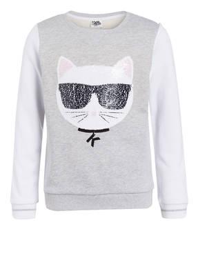 KARL LAGERFELD KIDS Sweatshirt mit Wendepailletten