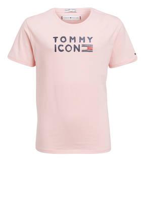 TOMMY HILFIGER T-Shirt mit Glitzerbesatz