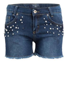 BLUE EFFECT Jeans-Shorts mit Perlenbesatz