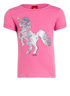 s.Oliver T-Shirt mit Wendepailletten