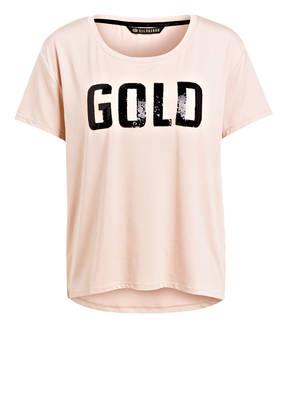 GOLDBERGH T-Shirt GOLD mit Paillettenbesatz