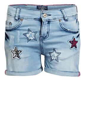BLUE EFFECT Jeans-Shorts mit Paillettenbesatz