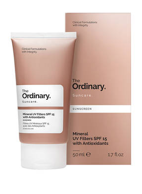 The Ordinary. MINERAL UV FILTERS