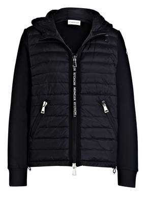 MONCLER Sweatjacke im Materialmix