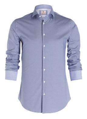 Blaue Q1 Manufaktur Slim Fit Casual Hemden online kaufen